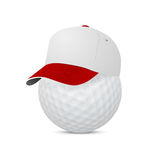 Cap on a golf ball Royalty Free Stock Photo