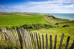 Free Cap Gris-Nez And English Channel In Cote D`Opale District In Pas-de-Calais Region Of France In Summer Day Stock Photos - 119564453