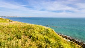 Cap Gris-Nez and English channel in France. Travel to France - Cap Gris-Nez and English channel in Cote d'Opale district in Pas-de-Calais region of France in Stock Image