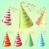 Cap holyday color carnaval holiday party vector Stock Photo
