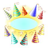 Cap holyday color carnaval holiday party vector Stock Image