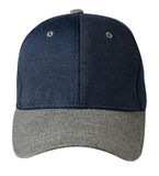 Cap isolated on white background.blue  cap with gray visor.  Royalty Free Stock Photos