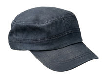 Cap isolated on white background. cap with a visor . blue cap Stock Image