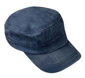 Cap isolated on white background. cap with a visor .blue cap Royalty Free Stock Photo