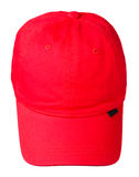 Cap isolated on white background. cap with a visor.red cap Royalty Free Stock Image