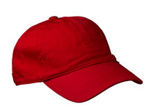 Cap isolated on white background. cap with a visor. red cap.  Stock Photography