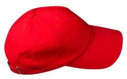 Cap isolated on white background. cap with a visor. red cap Royalty Free Stock Photography