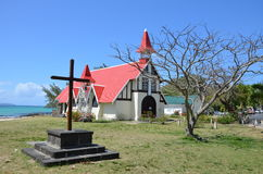 Cap Malheureux. Church in Cap Malheureux, Mauritius Royalty Free Stock Photo