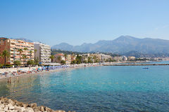 Cap Martin Roquebrune coast, blue sea of french riviera Stock Photography