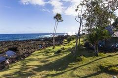 Cap mechant coastline, La Reunion island, france. A view in CAPE MECHANT, LA REUNION, FRANCE, APRIL 24 :  Cape Mechant coastline, La Reunion island, Indian Ocean Royalty Free Stock Photography