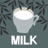 Cap of milk. Royalty Free Stock Image