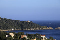 Cap negre, Le Lavandou, french riviera Stock Photos