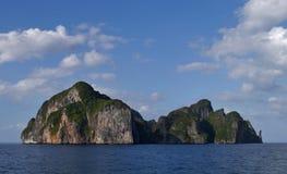 Cap occidental d'île de phi de phi (Thaïlande - Asie) Photographie stock libre de droits