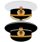 Cap officer of the Navy of the USSR and Russia Royalty Free Stock Photos