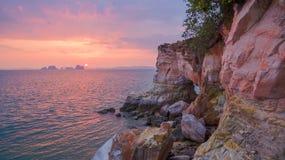Cap renversant de nez de Buffalo dans le coucher du soleil Image libre de droits