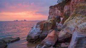 Cap renversant de nez de Buffalo dans le coucher du soleil Photo libre de droits