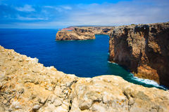 Cap, rock - coast at Portugal Royalty Free Stock Images
