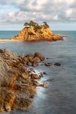 Cap Roig, a Prominent Sea Stack in Costa Brava. Catalonia stock photography