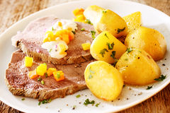 Cap or rump with potatoes Stock Photography