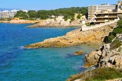 Cap Salou, in Salou, Spain. A view of Cap Salou, in Salou, Spain Stock Photos