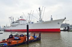 Cap San Diego moored at the port of Hamburg Stock Photography