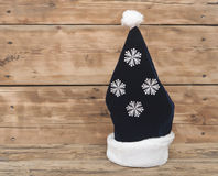 Cap of Santa with snowflake Stock Photography