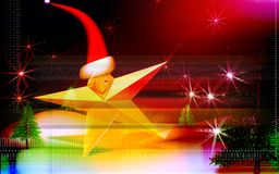 cap santa star Στοκ φωτογραφία με δικαίωμα ελεύθερης χρήσης