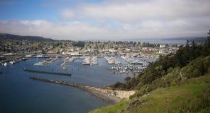 Cap Sante Marina Overlook Puget Sound Anacortes Washington Stock Photo