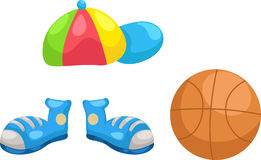 Cap - shoes -basketball vector Stock Photo
