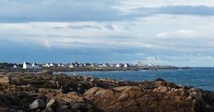 Pointe de la torche in Brittany coast. Cap sizun in brittany coast Royalty Free Stock Photo