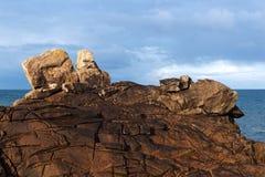 Pointe de la torche rock in Brittany coast. Cap sizun in brittany coast Royalty Free Stock Images