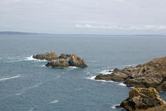 Cap Sizun, rocks and small waves Brittany, Finistere, France France Royalty Free Stock Image
