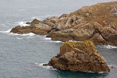 Cap Sizun, rocks and small waves Brittany, Finistere, FranceFrance Stock Images