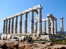 Cap Sounion Images libres de droits