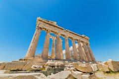 Cap Sounion Le site des ruines d'un temple du grec ancien de Poseidon, le dieu de la mer en mythologie classique photographie stock libre de droits