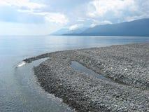 Cap sur le lac Baïkal Images stock