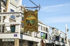 Cap`t Jacks wharf sign in Provincetown Stock Images