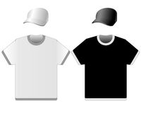Cap and t-shirt Stock Photos