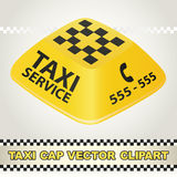 Cap Taxi Service Vector Clipart Stock Images
