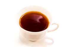 Cap with tea or coffee Stock Image