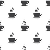Cap of tea, vector seamless pattern Stock Photo