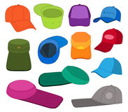 Cap template colored set Stock Image