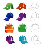 Cap template set Royalty Free Stock Photos