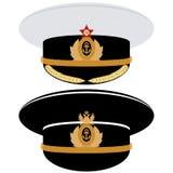 Cap tjänstemannen av marinen av USSR och Ryssland Royaltyfria Foton
