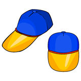 Cap -Vector. Front and 45 degree angle views of cap Stock Photos