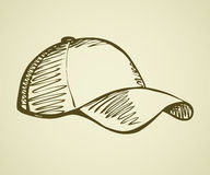 Cap with a visor. Vector drawing Royalty Free Stock Photos