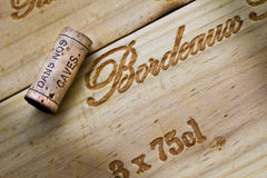 Cap and wooden box Royalty Free Stock Photos
