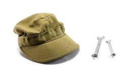 Cap and wrench Stock Image