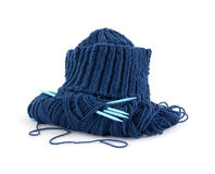 Cap yarn needles Stock Photos