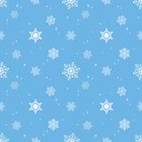 Capa azul del tinte del fondo del copo de nieve Foto de archivo
